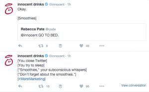 Innocent Drinks Conversation Screenshot