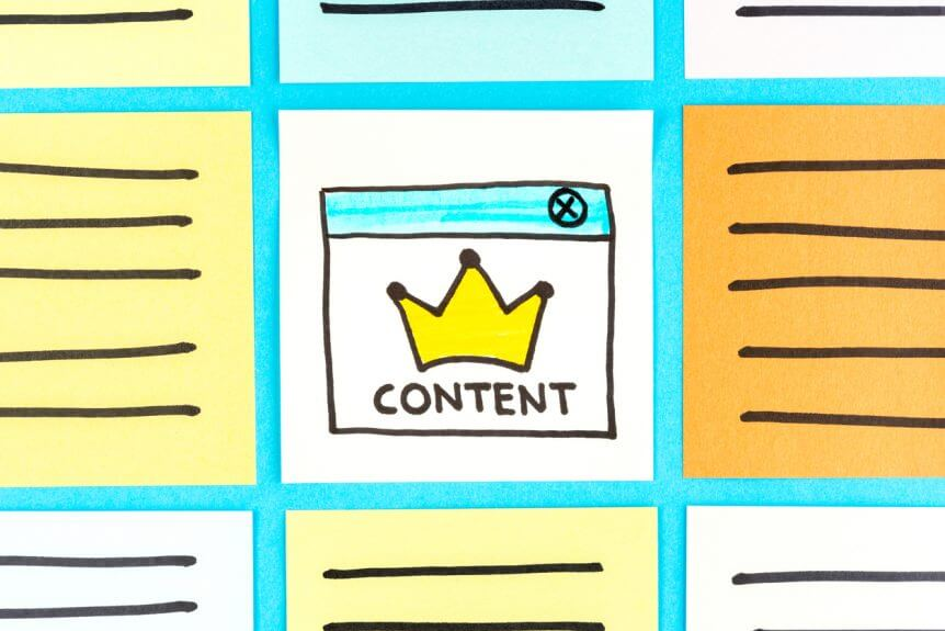 illustration-of-content-crown-in-middle-of-grid-of-other-content