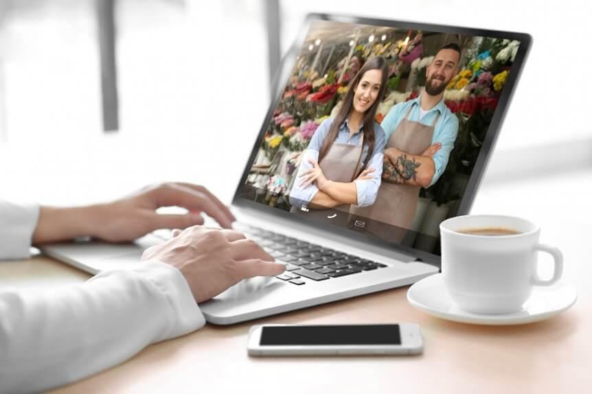 Florist video chat